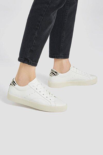 Kadın Zebra Desenli Parçalı Spor Ayakkabı 11203740