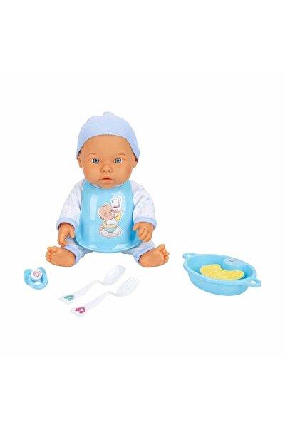Bebelou Yemek Zamanı Sesli Bebek Seti 35 Cm. - Mavi