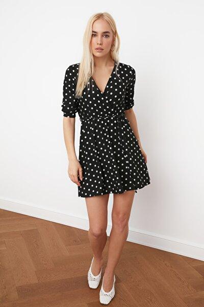 Siyah Örme Elbise TWOAW20EL1083