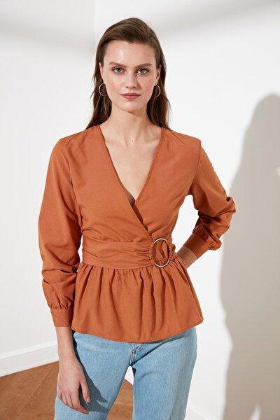Açık Kahverengi Kemerli Bluz TWOSS21BZ0529