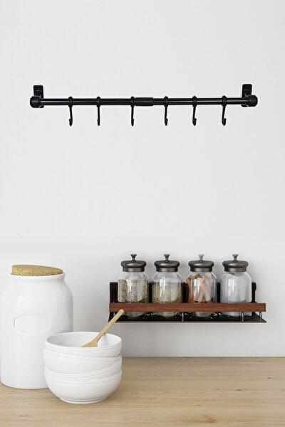 Metal Ergonomik Siyah Mutfak Ve Banyo Askısı