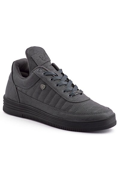 07 Füme Siyah Dikişli Taban Unisex Spor Ayakkabı