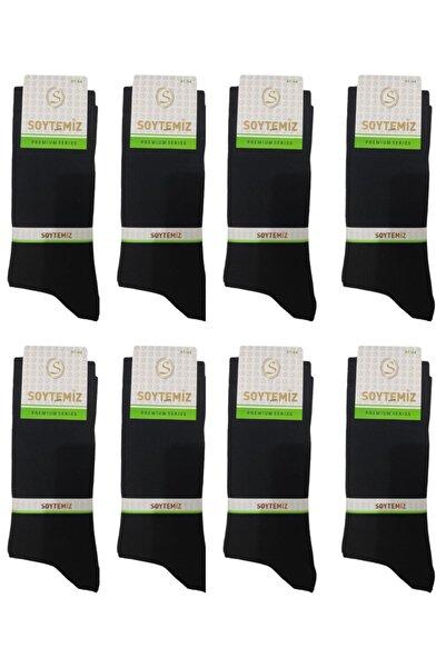 Erkek Düz Siyah Çorap 8 Çift