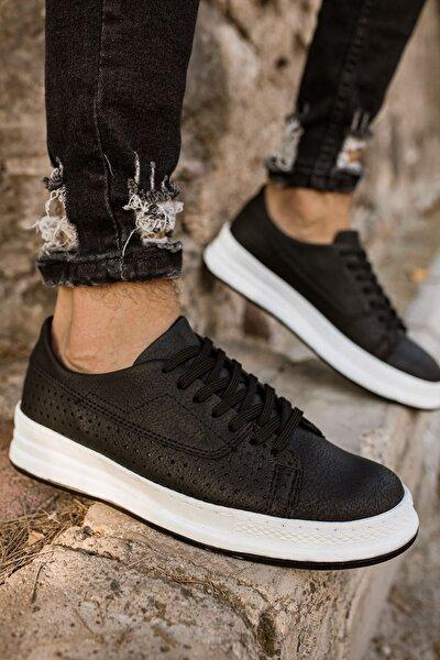 Erkek Siyah Beyaz Spor Ayakkabı Ch043