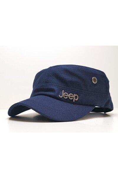 Unisex Lacivert Jeep Model Castro Tarzı Şapka