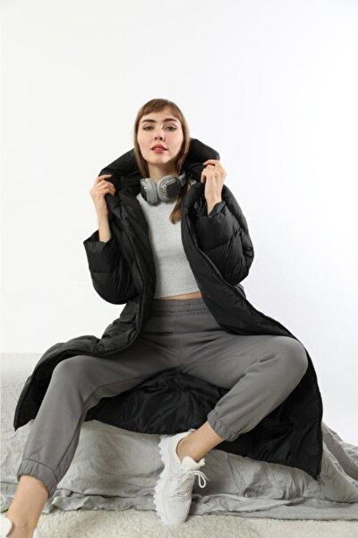 Y-style Şişme Siyah, Kadın Montu