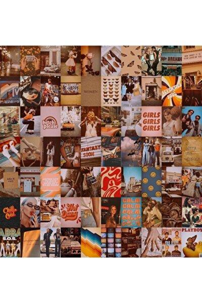 Vintage Retro 70'lı Duvar Posteri Seti
