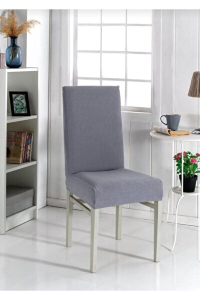 6 Adet Bal Peteği Sandalye Kılıfı Ithal Pietra Kumaş
