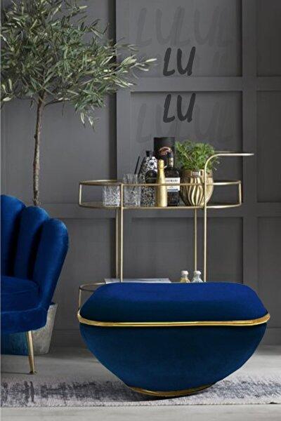 Lulu Blue- Gold Puf