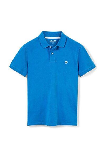 Merrymeeting River Stretch Pique Polo Yaka Erkek Tişört Mavi
