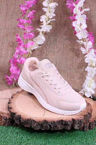Günlük Sneaker Yürüyüş Spor Ayakkabı Pudra
