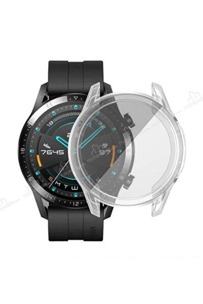 Honor Magic Watch 2 46mm 360 Koruma Silikon Kılıf Şeffaf
