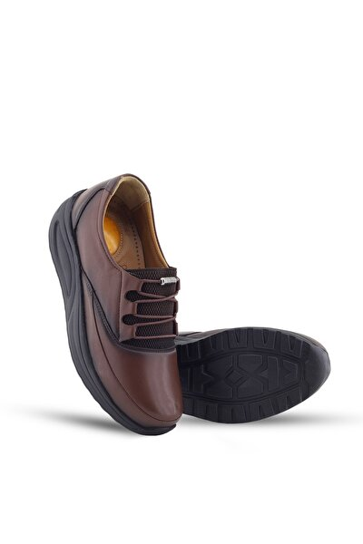 Kahve Ortopedik Topuk Dikeni Kadın Hafif Yürüyüş Ayakkabısı