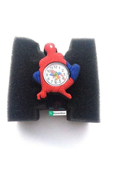 Üç Boyutlu Örümcek Adam Figürlü Çocuk Kol Saati