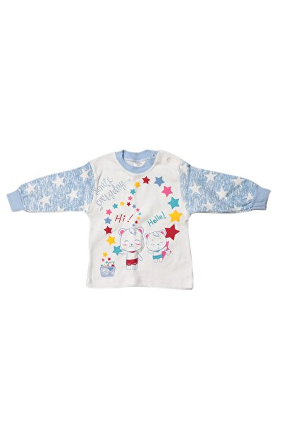 %100 Pamuk Bebek Pijama Üst