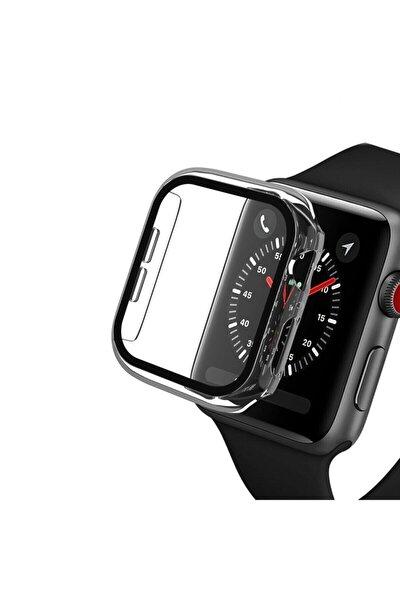 Apple Watch Series Şeffaf Renk Sert Silikon Kılıf 38 Mm Tam Koruma
