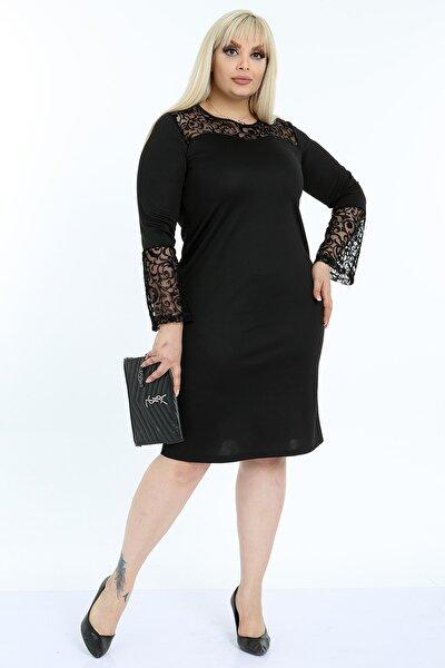 Kadın Büyük Beden Ispanyol Kol Elbise