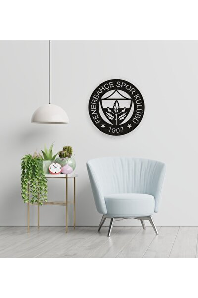 Fenerbahçe Logosu Ahşap Dekoratif Duvar Tablosu