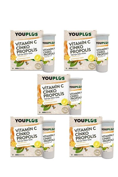 5 Adet Vitamin C Çinko Propolis 20 Efervesan