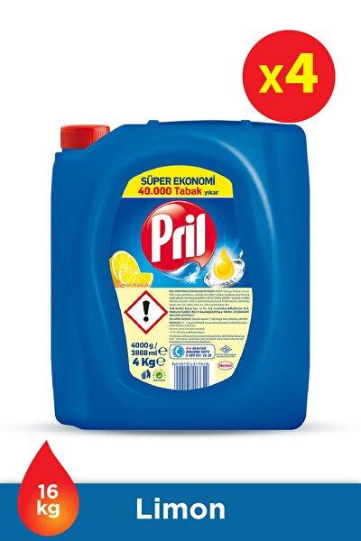 Elde Yıkama Sıvı Bulaşık Deterjanı 4 x 4kg Limon (16kg)