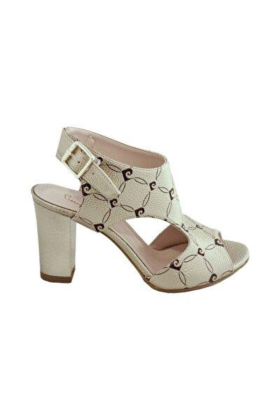 Kadın Altın Topuklu Ayakkabı Pc-80038