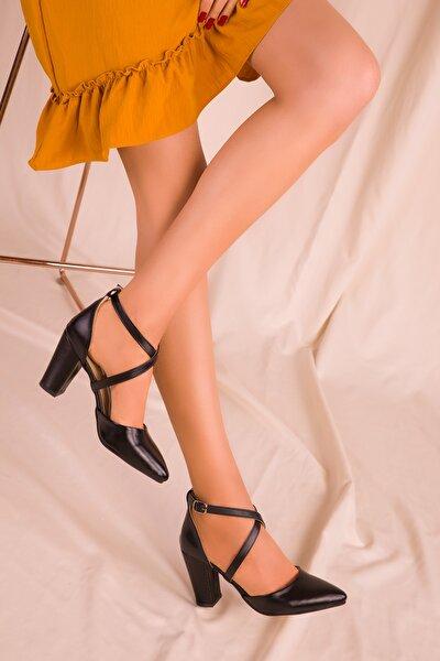 Siyah Kadın Klasik Topuklu Ayakkabı 14391