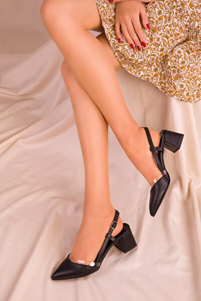 Siyah Kadın Klasik Topuklu Ayakkabı 14656