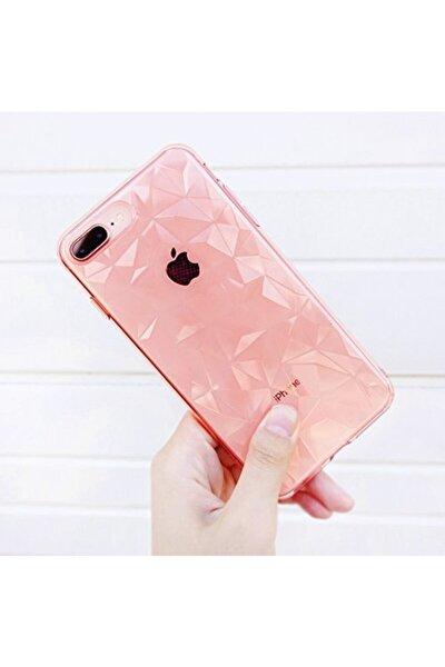 Apple Iphone 7 Plus / 8 Plus Pembe Piramit Desen Silikon Kılıf Aa Kalite