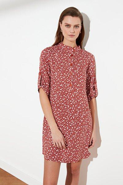 Çok Renkli Düğme Detaylı Elbise TWOSS21EL0273