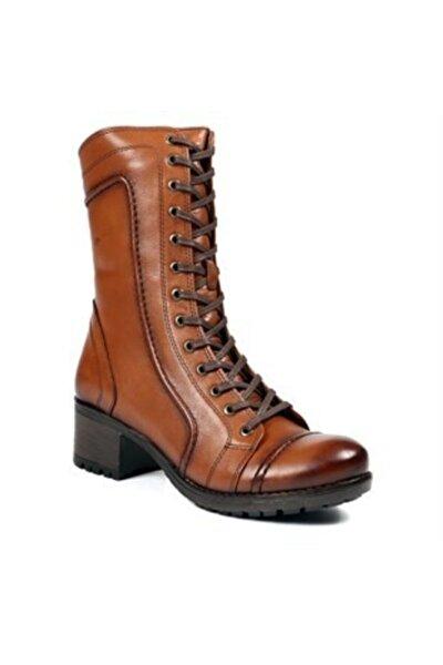Kadın Kahverengi 2979 Z Hakiki Deri Topuklu Bot