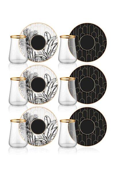 12 Parça 6 Kişilik Cote Çay Bardak Takımı Prs0057