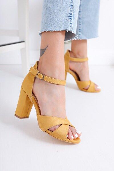 Kadın Sarı Topuklu Ayakkabı