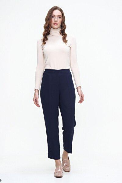 Kadın Lacivert Kumaş Pantolon Bs36799045