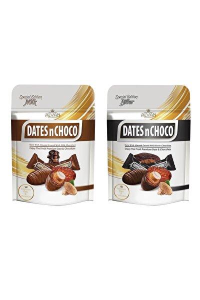 Dates N Choco Sütlü Çikolata Kaplı Hurma 90gr + Bitter Çikolata Kaplı Hurma 90g
