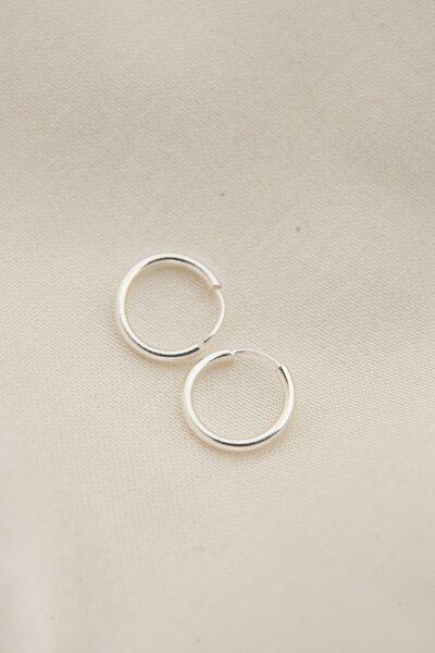 Kadın 925 Ayar Gümüş Minimal Küpe