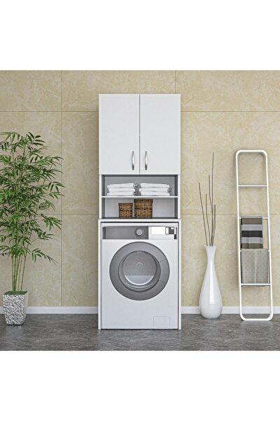 Çamaşır Makinesi Dolabı,raflı Banyo Dolabı,çok Amaçlı Banyo Dolabı