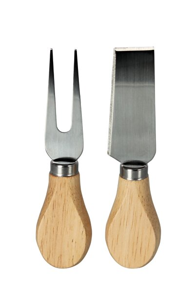 Bambu Saplı Peynir Bıçağı Seti 2li