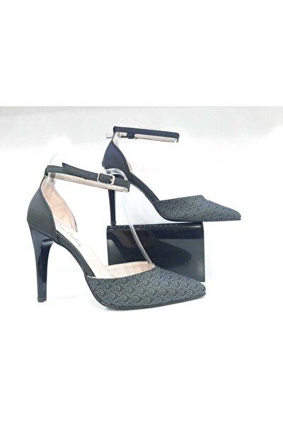 Siyah Kadın Topuklu Ayakkabı 54027