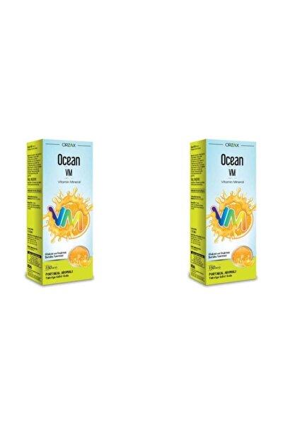 Orzax  Vm Vitamin Mineral 150 Ml Portakallı Şurup 2liPaket