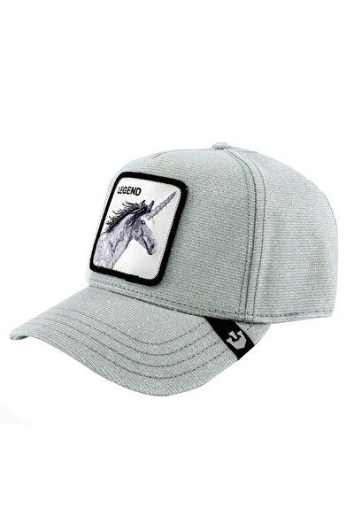 Unisex Gümüş Rengi Believer Şapka 101-0506