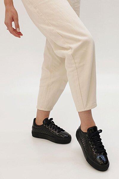 Afela Kadın Sneaker Ayakkabısiyah Rugan