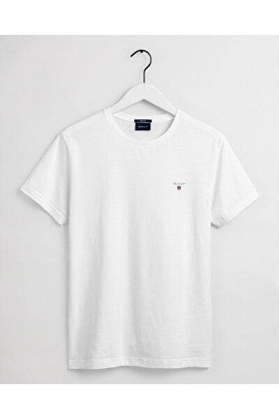 Erkek Beyaz Regular Fit T-Shirt