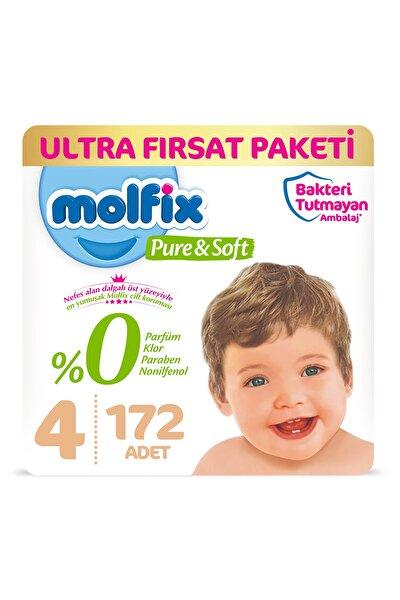 Pure&soft Bebek Bezi 4 Beden Maxi Ultra Fırsat Paketi 172 Adet