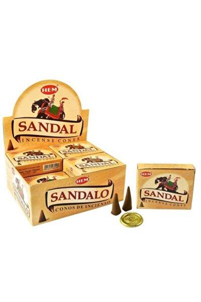 Sandal Ağacı Kokusu 10 Adet Konik Tütsü