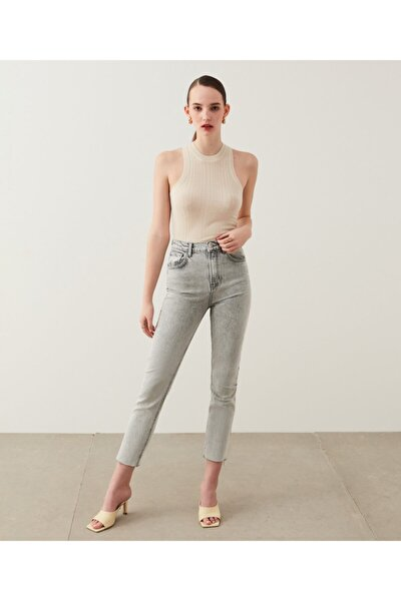 Slim Straight Cropped Fit Jean Pantolon
