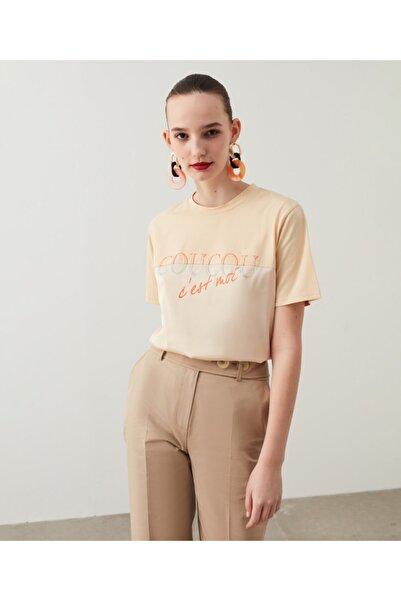 Saten Kumaş Mixli Tişört