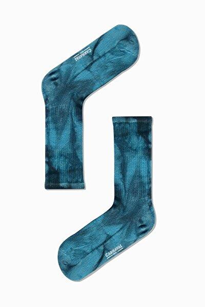 Gece Mavisi Batik Spor Çorap