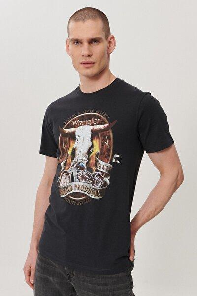 Regular Fit Bol Kesim Sıfır Yaka %100 Koton Grafik Desenli Tişört