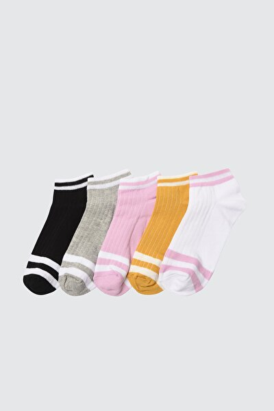Siyah 5'li Paket Örme Çorap TWOSS21CO0016