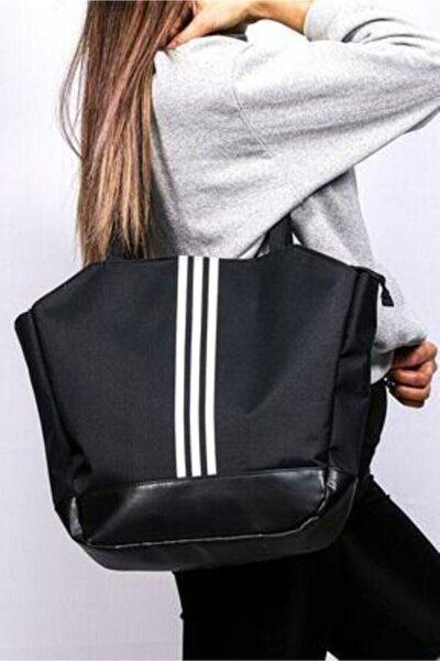 Kadın Siyah Çizgili Spor Çanta